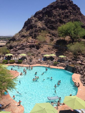 One side of the pool picture of the buttes a marriott for Tempe swimming pool