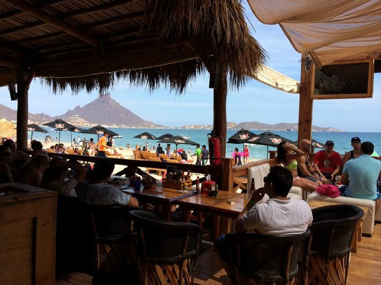 view from the lounge area picture of la salsa beach bar san carlos tripadvisor. Black Bedroom Furniture Sets. Home Design Ideas