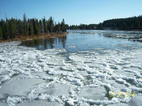 Ice melt for Fishing bridge rv park
