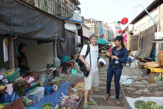 Train Market  Picture Of Mandy Guide Smile  Private Tour Guide Bangkok  T