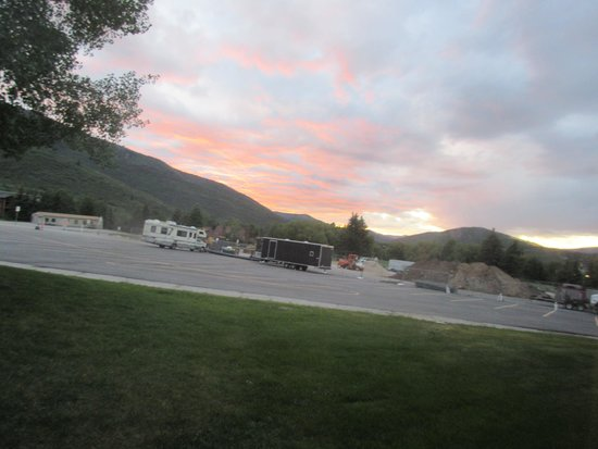 Sunset from Nice Condo, Silver King Hotel, Park City, Utah