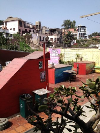 Kaminu Backpackers Hostel: view from the terrace