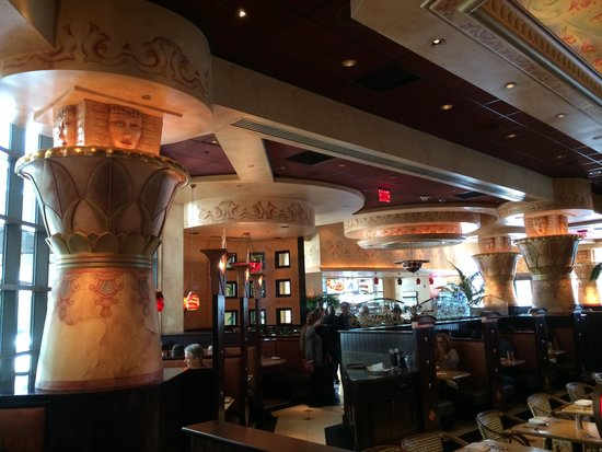 Egyptian themed interior of the restaurant