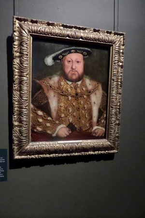 Portrait King Henry Viii In Hampton Court Palace