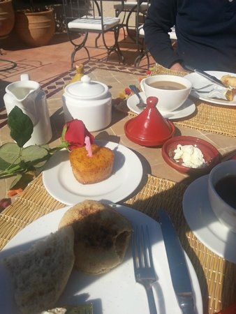 Riad le Clos des Arts: Birthday breakfast