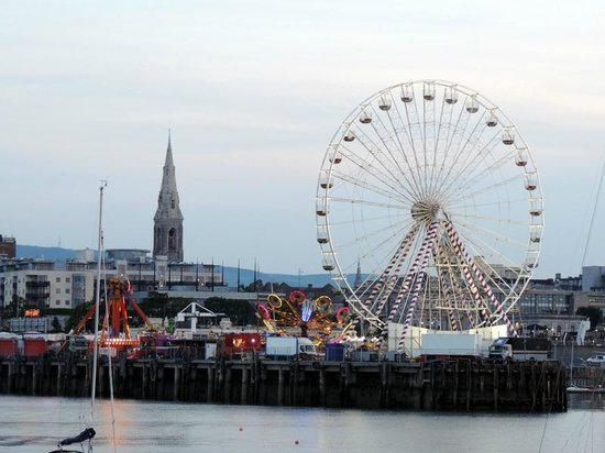 Dun Laoghaire, Ireland: View of the Funfair