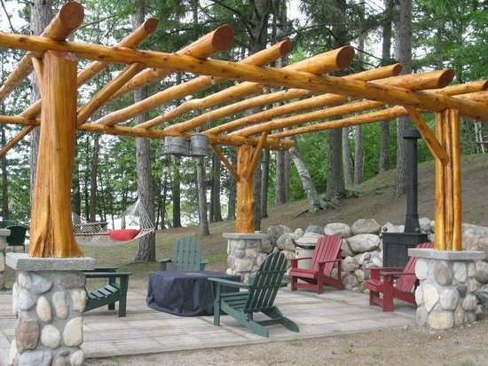 Our Log Pergola Near The Lake Picture Of Wilderness
