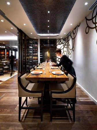 Stratus private wine room picture of stratus restaurant for Best restaurants with private dining rooms toronto