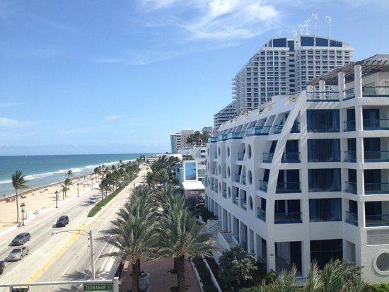 The Atlantic Hotel & Spa: looking right down the street