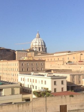 A View of Rome : St. Peter's from our room.