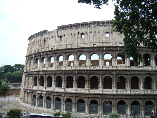 Colosseum just over the hill