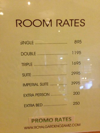 Current Room Rates Picture Of Royal Garden Hotel Ozamiz City Tripadvisor