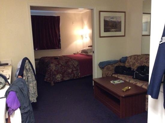 The Living And Bedroom There Are Double Pocket Doors Between The Two Rooms Picture Of