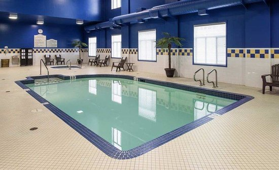 Indoor pool picture of hilton garden inn west edmonton for Garden pool west allis