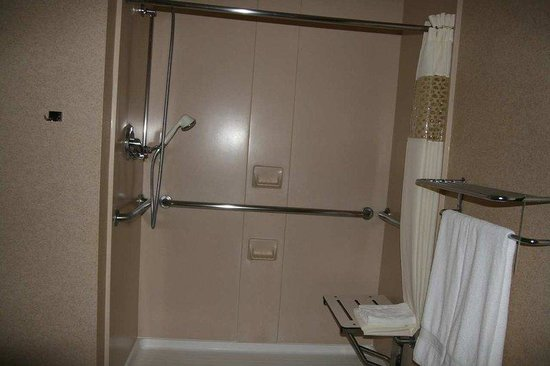 Hampton Inn & Suites Los Alamos: Accessible Shower