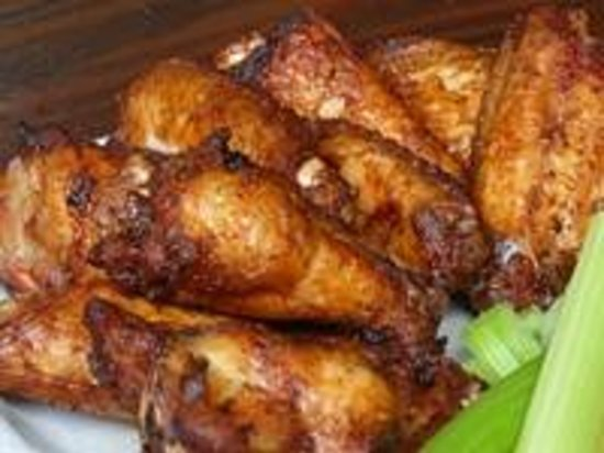 Hickory-Smoked Dry Rub Chicken Wings - Picture of Red Hot & Blue ...