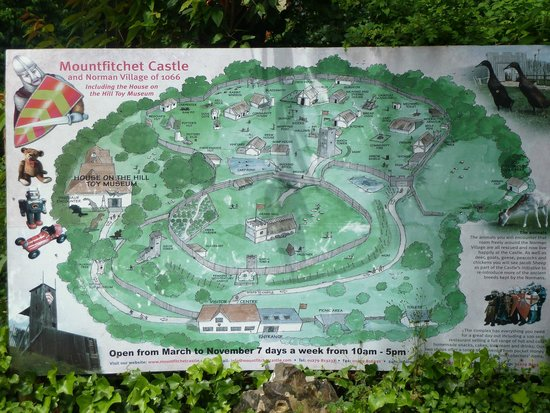 Map Picture Of Mountfitchet Castle Stansted