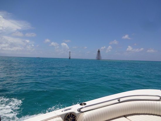 Taking The Boat Out To Do Some Snorkeling At Sand Key Picture Of Hydrothunder Key West