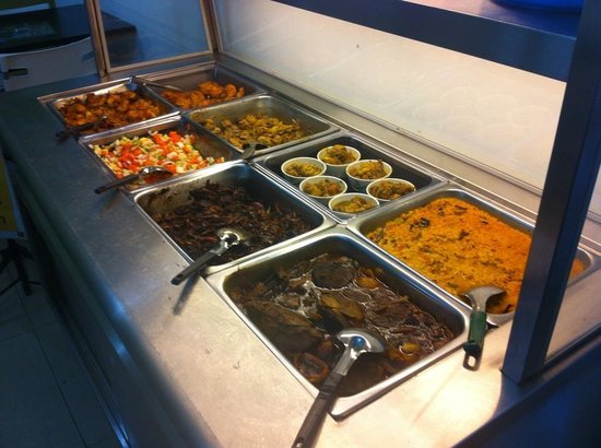 Buffet line picture of rasai machan authentic sri for Authentic sri lankan cuisine