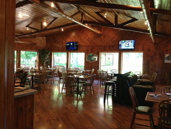 dining room picture of log cabin on the bay grill and