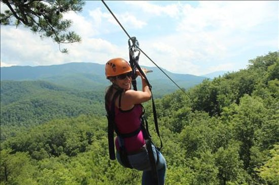 Ziplining !! - Picture of CLIMB Works - Smoky Mountains ...