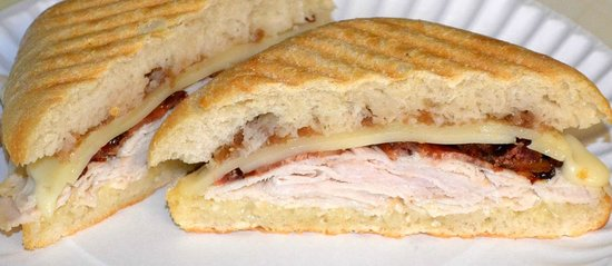 ... Panini - Turkey, Applewood Smoked Bacon, Onion Jam, Swiss Cheese