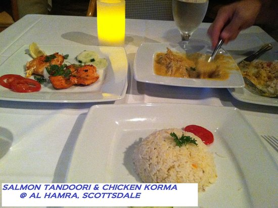 salmon tandoori chicken korma rice picture of al