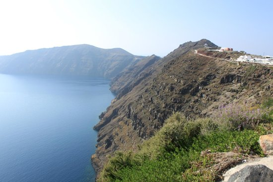 Départ Imerovigli - Picture of Hiking Trail Fira - Oia ...