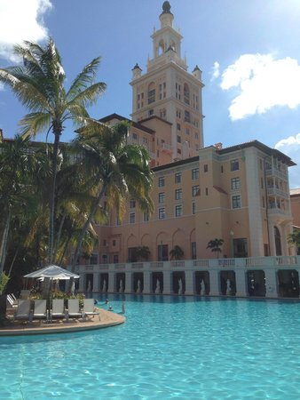 The Biltmore Hotel: Pool and real of hotel