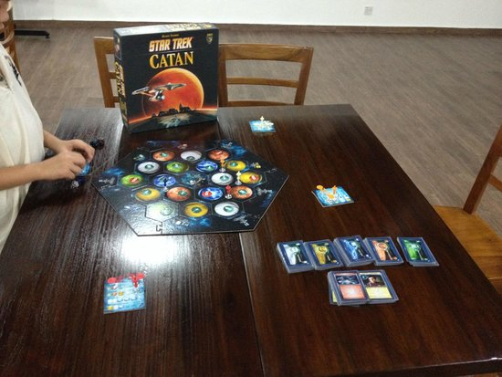 playing star trek catan board game hobby n coffee cafe picture of hobby n coffee at ttdi. Black Bedroom Furniture Sets. Home Design Ideas