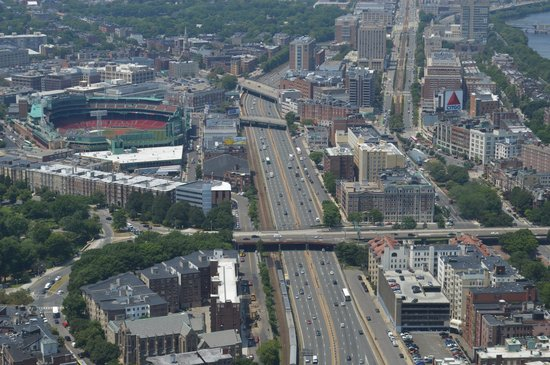 Boston Hotel Buckminster: View from Prudential Tower. Fenway to the left. Buckminster across the bridge t the right