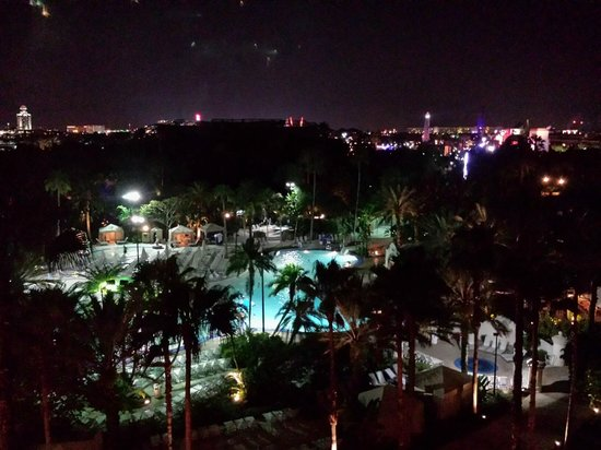 Hard Rock Hotel at Universal Orlando: View from Club Room.