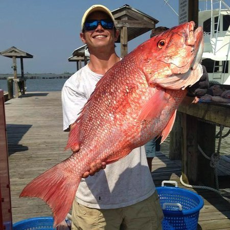 Big red snapper for Captain al fishing