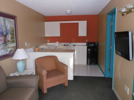 The Living Room And Kitchen Picture Of Rodeway Inn Suites Haines City Tripadvisor