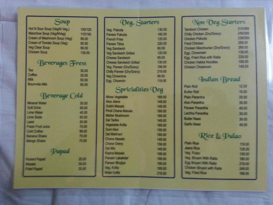 Food menu card picture of hotel airportcity new delhi tripadvisor