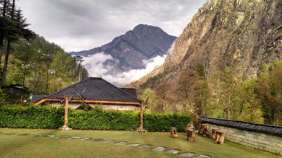 Kasol, India: Beautiful view from the hotel
