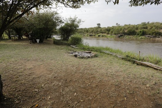 Serian: A view from the fireplace overlooking the hippos in the river