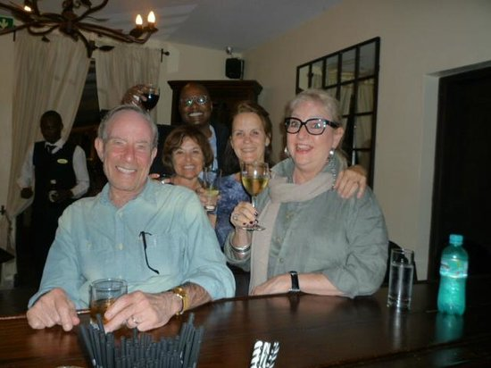 Palacina Residence & Suites: General Manager, Tony Sawe, and our group