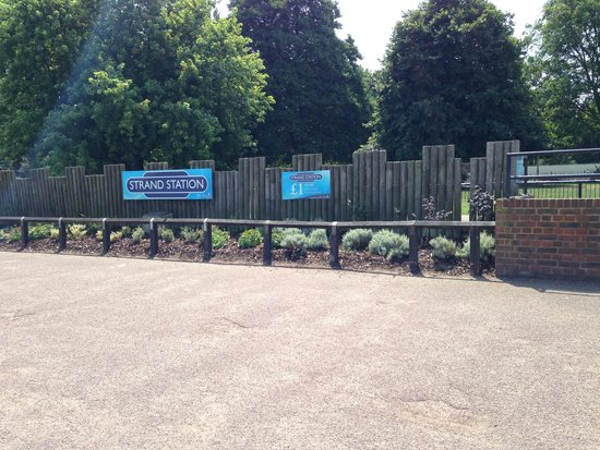 Mini train station picture of the strand leisure park - The strand swimming pool gillingham ...