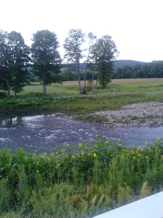 The Shire Woodstock: View of the river and landscape from the back porch