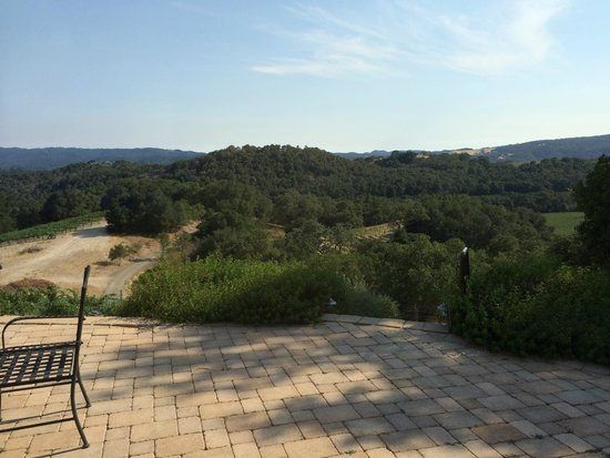 Dunning Ranch Guest Suites: The spectacular view from the villa's terrace.