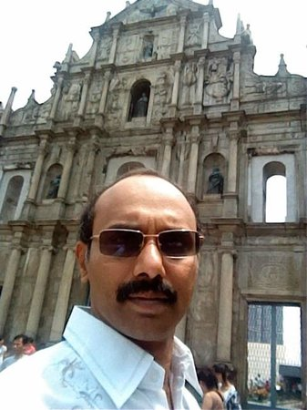 Ruins of St. Paul's Cathedral: In front of St Paul church - ruins-of-st-paul-s-cathedral
