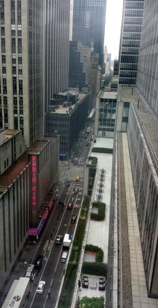 Club Quarters Hotel, opposite Rockefeller Center: View from the 19th Floor