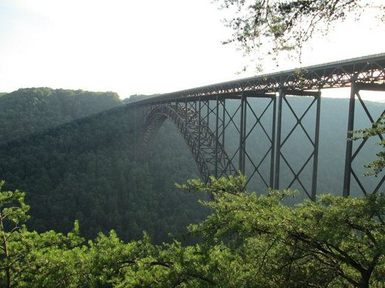 New River Gorge Bridge: view from the walkway