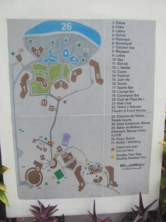 Grounds Map Picture Of Bluebay Grand Esmeralda Playa Del Carmen Tripadvisor