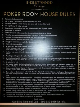g casino poker rules