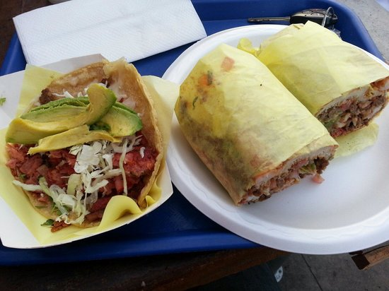 Torta de oscar and smoked fish taco excellent for Oscars fish tacos san diego