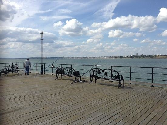 View from the shore picture of southend pier southend for Fishing piers near me