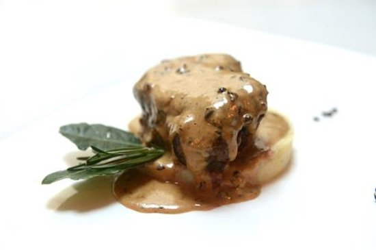 Thinly sliced roasted veal with italian black fig compote ...