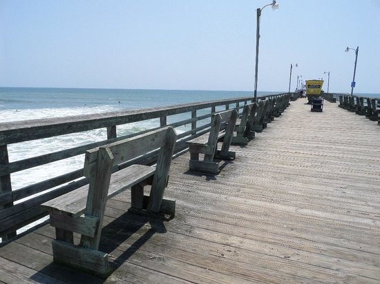 Just down the way picture of bogue inlet fishing pier for Bogue inlet fishing pier emerald isle nc